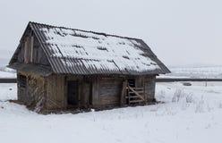 从国家的老房子 免版税库存照片