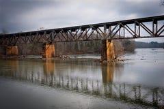 国家福特铁路桥梁 库存图片