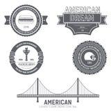 国家美国国家英国象征元素标签模板您的产品的或设计、网和流动应用 免版税图库摄影