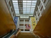 国家美术馆新加坡内部  库存照片