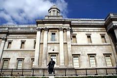 国家肖像馆在特拉法加广场在威斯敏斯特,伦敦,英国 库存照片