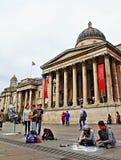 国家肖像馆室外空间特拉法加广场伦敦英国 免版税库存照片
