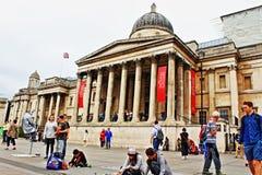国家肖像馆空间特拉法加广场伦敦英国 免版税库存图片