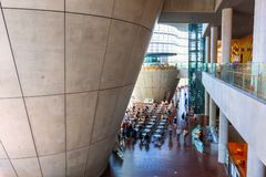 国家艺术中心在六本木,东京,日本 库存图片