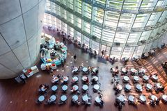 国家艺术中心在六本木,东京,日本 库存照片