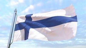 国家芬兰的编织的旗子 库存例证