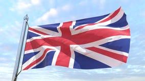 国家英国的编织的旗子 皇族释放例证
