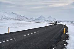 国家车行道在冰岛 图库摄影