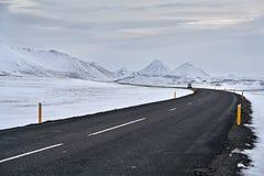 国家车行道在冰岛 免版税图库摄影