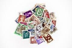 国家(地区)不同的邮票 库存照片