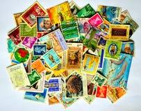 国家(地区)不同的邮票 库存图片