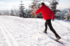 国家(地区)交叉人滑雪年轻人 图库摄影