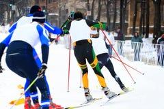 国家(地区)交叉种族滑雪 库存照片