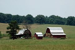国家(地区)农场 免版税库存图片