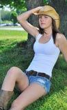 国家(地区)农村惊人的妇女年轻人 库存图片