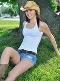 国家(地区)农村惊人的妇女年轻人 免版税图库摄影