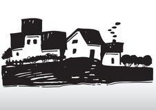 国家(地区)副村庄 向量例证