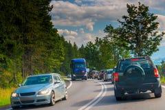 国家(地区)堵塞公路交通 免版税库存图片