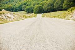国家(地区)小山路 免版税库存照片