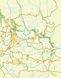 国家(地区)的向量映射 图库摄影