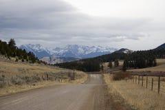 国家(地区)蒙大拿路 库存图片