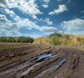 国家(地区)雨路 免版税库存图片