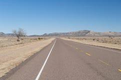国家(地区)高速公路小山开放得克萨斯 库存图片