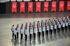 国庆节游行排练2016年在新加坡 库存图片