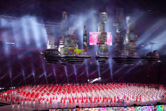 国庆节游行(NDP)排练2016年在新加坡 库存图片