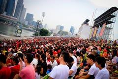 国庆节观众 免版税图库摄影
