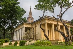 国教徒在18世纪建造的圣约翰教会在加尔各答,印度 库存照片