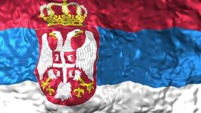 国旗塞尔维亚波动图式 皇族释放例证