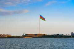 国旗正方形在巴库 库存照片