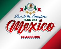 国旗的庆祝在墨西哥 皇族释放例证