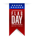 国旗纪念日横幅标志例证设计 库存图片