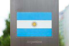 国旗系列在杆-阿根廷的 图库摄影