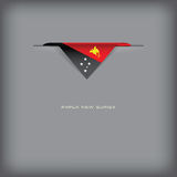 国旗巴布亚新几内亚的颜色 皇族释放例证