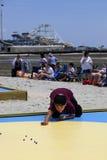 国民使比赛- Wildwood,新泽西有大理石花纹 图库摄影