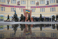 国民警卫队的操作的任命营  免版税库存照片