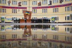 国民警卫队的操作的任命营  图库摄影
