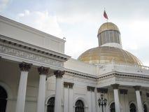 国民议会Capitolio国会政治Downtown加拉加斯委内瑞拉代理 免版税库存照片