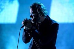 国民(美国制片者摇滚乐队)在海涅肯Primavera声音2014年节日的音乐会的 库存图片