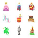 国王、王子和公主和与他们相关对象 免版税库存图片