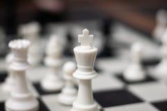 国王下棋比赛片断 免版税库存照片