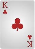 国王卡片棍打啤牌 库存图片