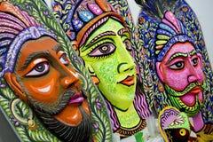 国王和女王/王后大大小五颜六色的面具 库存图片