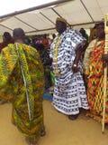 国王和部族领导国庆节年会在人阿肯人中在象牙海岸 库存图片