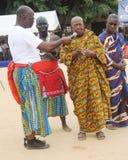 国王和部族领导年会国庆节在人阿肯人中 免版税库存照片