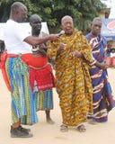 国王和部族领导年会国庆节在人阿肯人中 库存照片
