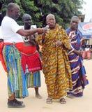 国王和部族领导年会国庆节在人阿肯人中 免版税库存图片